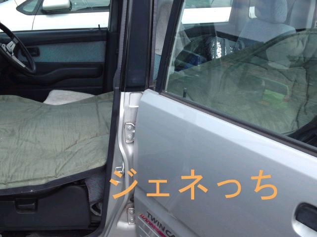 車の外から見たマット
