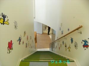 キッズルームへの階段