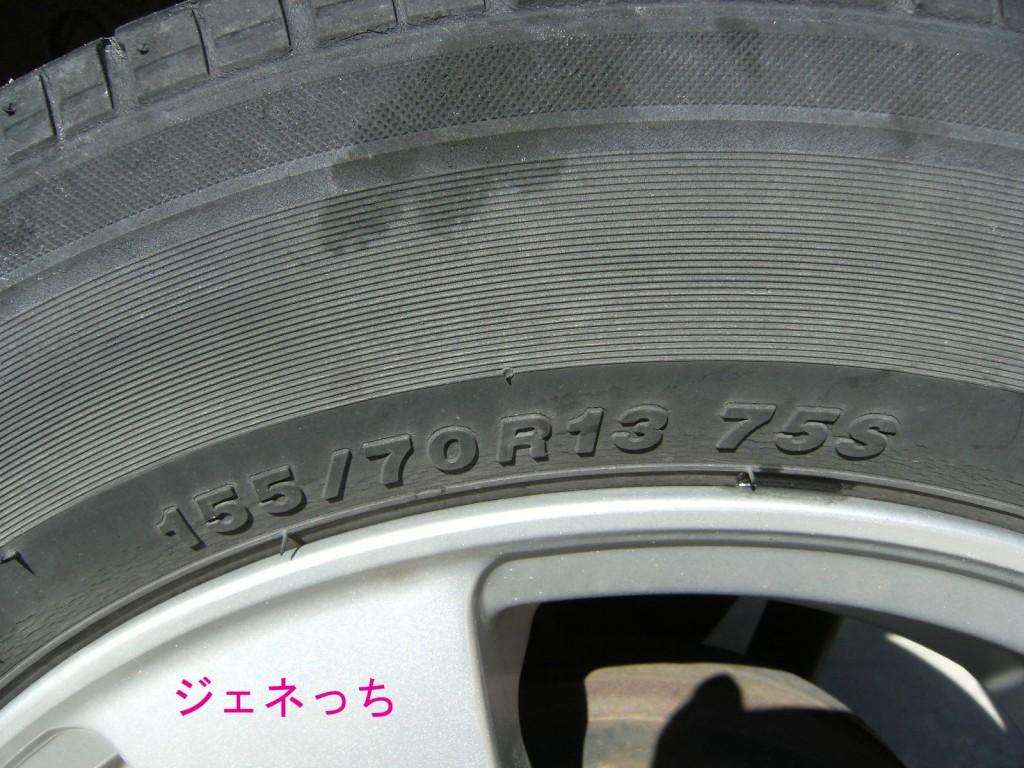 タイヤの3つの数字
